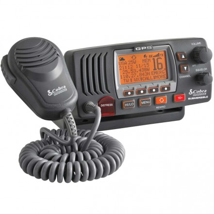 Cobra F77 Fixed VHF Marine Radio with GPS - Grey