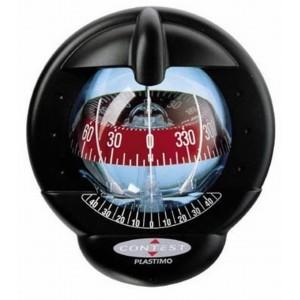 Plastimo Contest 101 compass, black, red card, vertical bulkhead