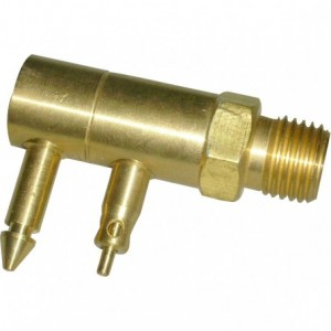 "Waveline Honda 1/4"" Male NPT tank connector 2 prong."
