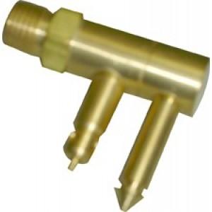 """Waveline Merc/Mariner Brass Male Quick Connect 1/4"""" NPT"""