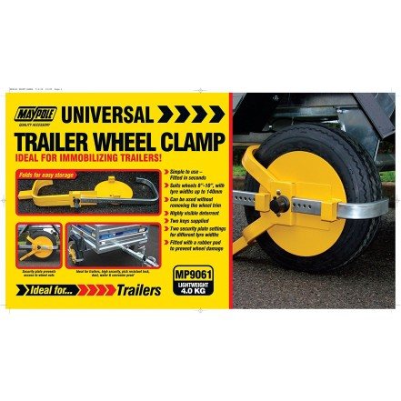 Maypole Universal Trailer Wheel Clamp 8-10""