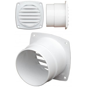 C Quip ABS Hose Vent 102mm Diameter White