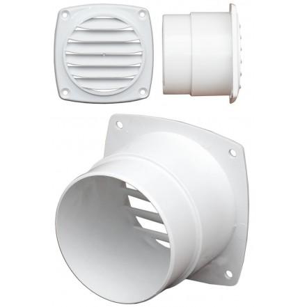C Quip ABS Hose Vent 102mm Diameter White