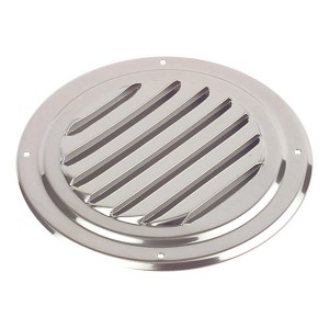 Louvred Vent Round Stainless Steel 125mm Diameter