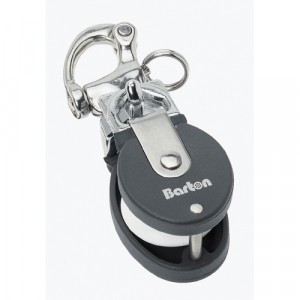 Barton Small Snatch Block & Stainless Steel Snap Shackle 35mm