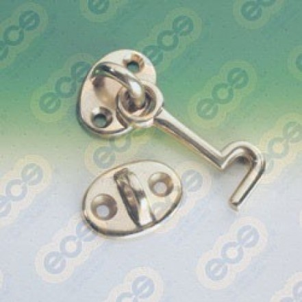 Cabin Hooks Chromed Brass 51mm