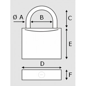 Plastimo Set of 5 Marine padlocks, 40 mm wide.