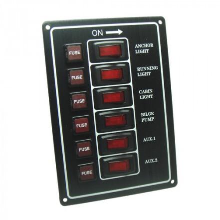 Switch Panel 6 Way Circuit Breaker