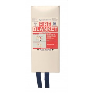Ocean Safety Fire Blanket Slim MCA Compliant 1.8 Metre x 1.2 Metre