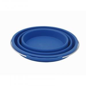 Folding Silicone Bucket Blue