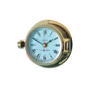 Channel 84mm Brass Clock