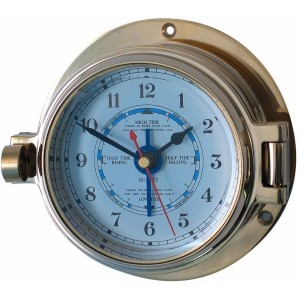 Channel 84mm Brass Tide Clock