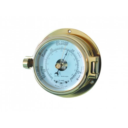 Channel 84mm Brass Barometer
