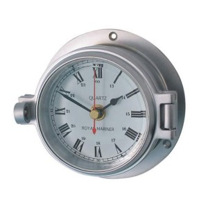 Channel 84mm Matt Chrome Clock