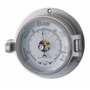 Channel 84mm Matt Chrome Barometer