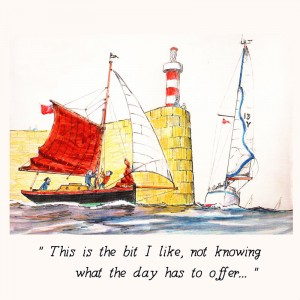 Nauticalia Greeting Card 'This is the bit I like...'