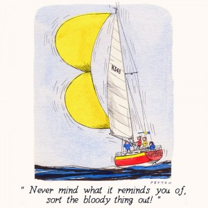 Nauticalia Greeting Card 'Never mind what it reminds you of...'