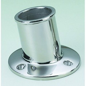 C Quip Flag Pole Socket Stainless Steel 1""