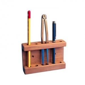 Teak Navigator's Rack/Pencil Holder