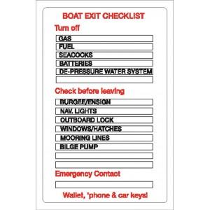 Nauticalia Sticker Boat Checklist