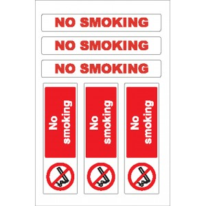 Nauticalia Sticker No Smoking