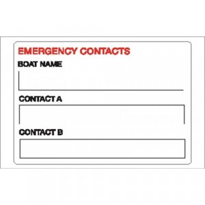 Nauticalia Sticker Emergency Contact