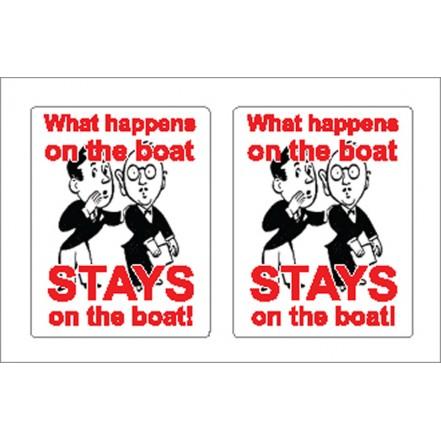 Nauticalia Sticker Stays on Boat