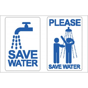 Nauticalia Sticker Save Water