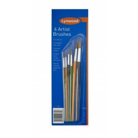 Lynwood Artist's Paintbrushes (Set 6)