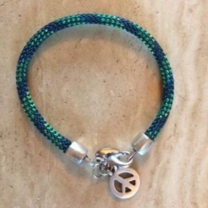 Heidi Peace Bracelet Green/Navy