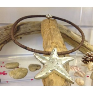Heidi Starfish Necklace Brown