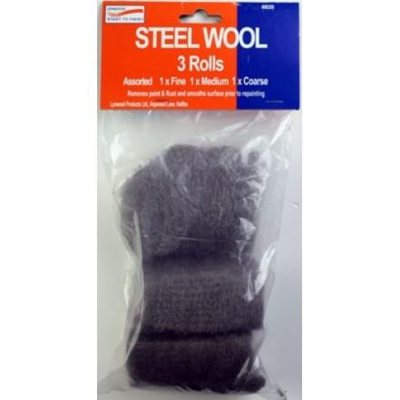 Steel Wool 3 Pieces Assorted