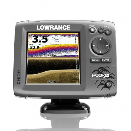 Lowrance Hook-5X Fishfinder Mid/High Downscan