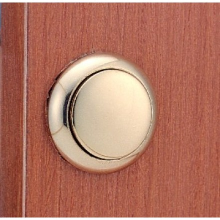 C Quip Push Button Latch Laquered Brass
