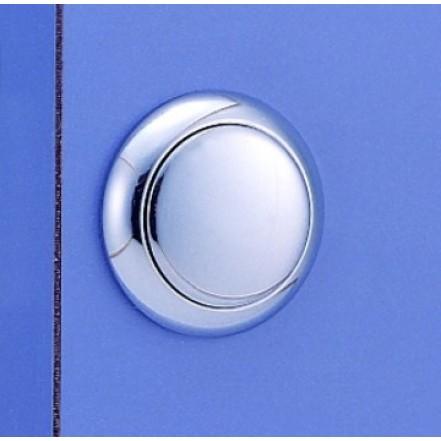 C Quip Push Button Latch Chromed Brass