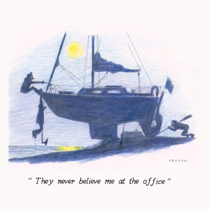 Greeting Card 'They never believe me at the office'