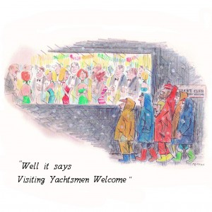 Greeting Card 'Yachtsmen Welcome'