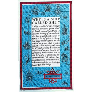 Nauticalia Galley Cloth Why Is A Ship Called She?