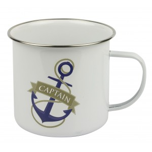 Nauticalia Traditional Tin Mug - Captain