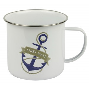 Nauticalia Traditional Tin Mug - First Mate