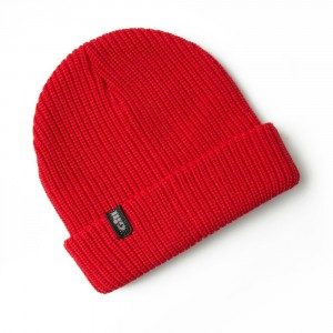 Gill Floating Knit Beanie Red
