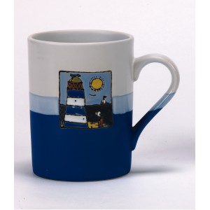 Nauticalia Ceramic Blue Lighthouse Mug 450ml