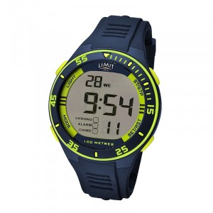 Limit Digital Watch Navy Lime