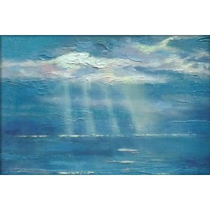 Gift Card Sunrays on Blue Water