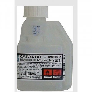 Glass Fibre Catalyst MEKP for Polyester Gelcoat & Resin 100g