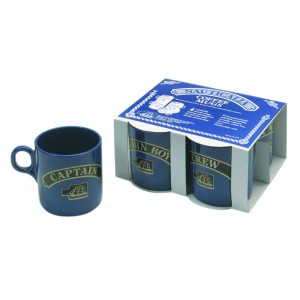 Nauticalia Coffee Mug Set Captain First Mate Cabin Boy & Crew