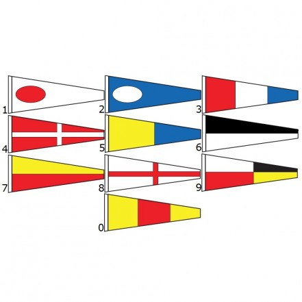 International Code Flags - Numerals