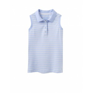 Joules Cheeky Sleeveless Polo Sky Blue Stripe