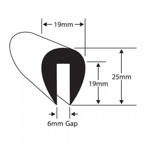 Wilks Rubber Plastics PVC U Fendering For 6MM Flange