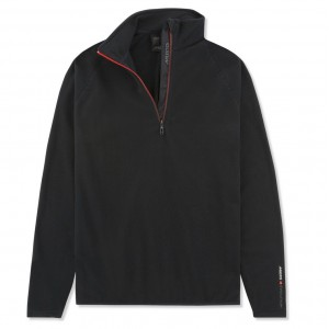 Musto Crew 1/2 Zip Microfleece Black